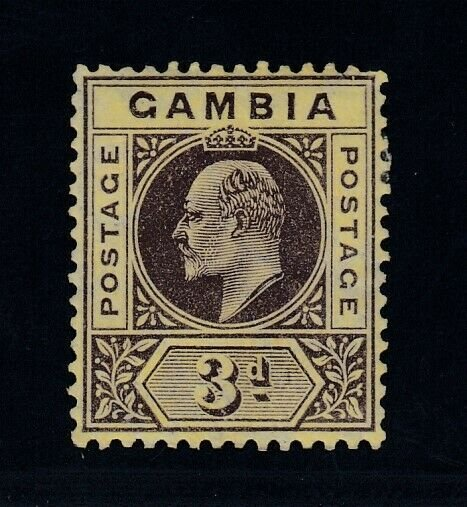 Gambia, SG 75 var, MHR Slotted Frame variety