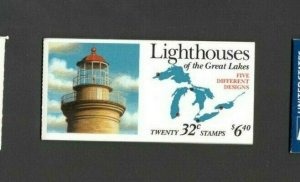BK230 Lighthouses Booklet Of 20 Mint/nh (Free Shipping)