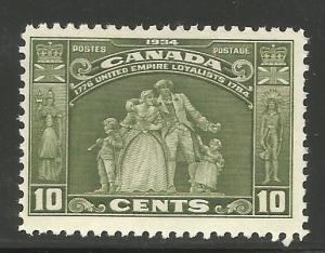 CANADA 209, HINGED, SINGLE STAMP, GROUP FROM LOYALISTS MONUMENT, HAMILTON, ON...