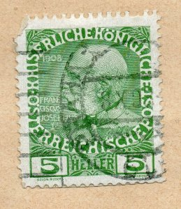 Austria 1906 Early Issue Fine Used 5h. NW-08494