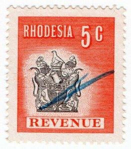 (I.B) Rhodesia Revenue: Duty Stamp 5c (1970)