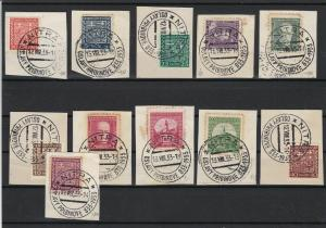 Czech Stamps on Piece with Nitra Slovakia 1933 Cancels Ref 23166