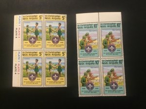ICOLLECTZONE Boy Scouts st Kitts Nevis 370-71  Block VF NH