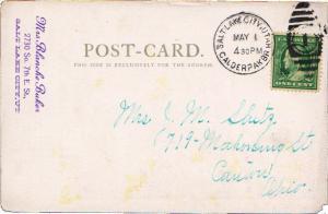 United States Utah Calderpak Br. Salt Lake City 1909 numeral duplex  1908-191...