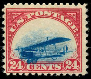 momen: US Stamps #C3 Var. Grounded Plane Mint OG NH