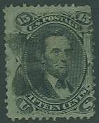 USA SC# 98 Abraham Lincoln 15¢ F Grill, Canceled