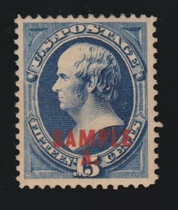 US 189SL 15c Webster Specimen VF-XF OG H SCV $75