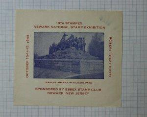 1944 Stampex Expo Wars of America Military Park Philatelic Souvenir Ad
