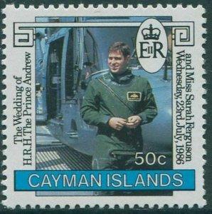 Cayman Islands 1986 SG634 50c Prince Andrew MNH