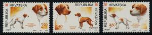 Croatia 233-5 MNH Hunting Dogs