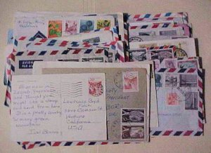 YUGOSLAVIA  39  SMALL COVERS COMMEMORATIVE ALL TO USA INCLUDES REGISTERED