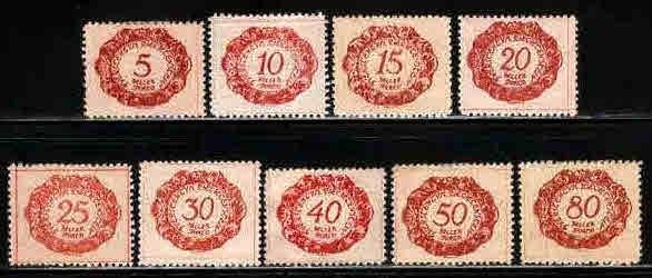 Liechtenstein # J1//12 ~ Short Set 9 of 12 ~ Mint, HMR, MX ~ cv 1.80