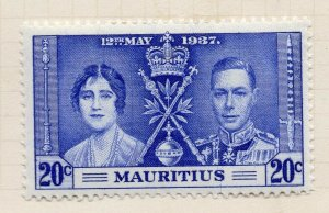 Mauritius 1948 GVI Early Issue Fine Mint Hinged 20c. NW-90969