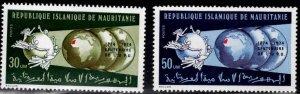 Mauritania Scott 316-317 MH* UPU  Centennial stamp set