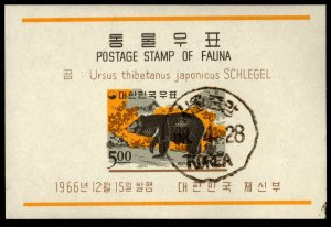 Korea - Cancelled Souvenir Sheets Scott #502a-504a (Animals)