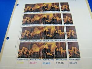 U.S. SCOTT # 1691-1694  -  PLATE BLOCKS of 16  -  LOT OF 3     MNH