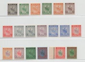 Malaya Negri Sembilan - 1935 - SG 21-39 - MH/MNH