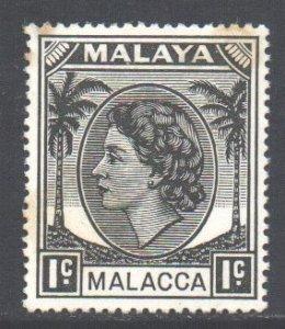 Malaya Malacca Scott 29 - SG23, 1954 Elizabeth II 1c MH*