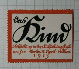 Luxenberg Wine Festival 1913 Exposition Poster Stamp Ads