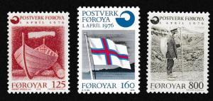 Faroe Is. Inauguration of Post Office 3v SG#20-22 MI#21-23 SC#21-23