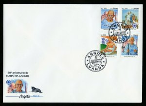 ANGOLA 2019 150th ANNIVERSARY OF MAHATMA GANDHI SET FIRST DAY COVER