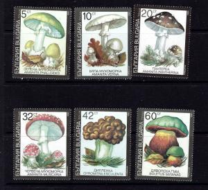 Bulgaria 3597-3602 MNH 1991 Mushrooms