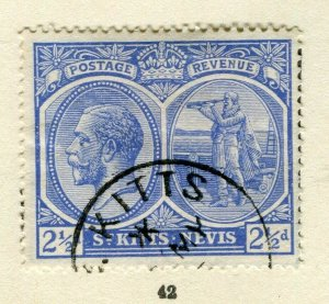 ST.KITTS; 1921 early GV issue fine used Columbus issue 2.5d. value