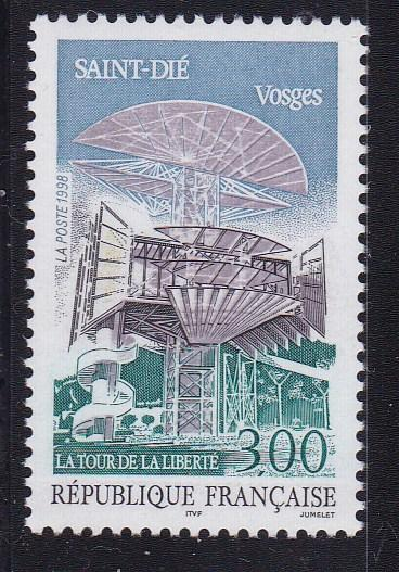 France 1998 3fr Saint-Die, Capital of Vosges Mountain Region VF/NH(**)