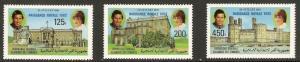 1982 Comoro Islands Scott 551-553 Birth of Prince William of Wales  MNH