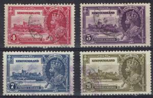 NEWFOUNDLAND 1935 KGV SILVER JUBILEE SET USED