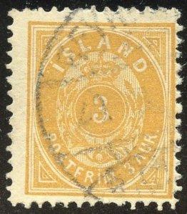 Iceland Scott 21 UFNH - 1897 Numeral - SCV $15.00