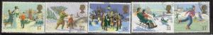 Great Britain Sc 1340-4 1990 Christmas stamps used