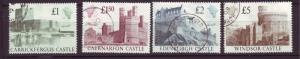 J19711 Jlstamps 1988 great britain set used #1230-3 castles