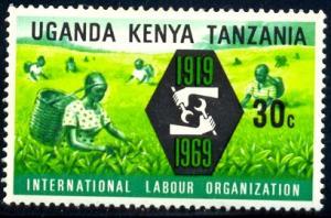 ILO Emblem, Farm Workers, Kenya, Uganda, Tanzania SC#197 used