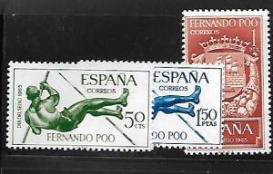 FERNANDO PO 234-236 MNH C/SET 1965 ISSUE