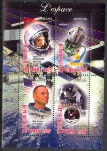 Chad 2013 Space Gagarin Armstrong Apollo 11 MNH Cinderella !