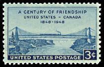 961 U.S. Canada Friendship F-VF MNH single
