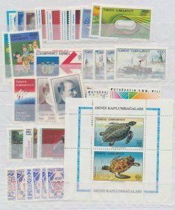 TURKEY - 1989 COMPLETE YEAR SET (Incl. Officials)