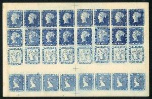 Mauritius Two Pence Facsimile SHEET OF 32