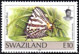 Swaziland - 2000 Butterflies E10 MNH** SG 619