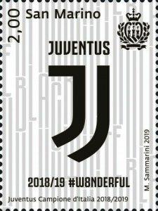 Stamps San Marino 2020. - Juventus, Italian Champion 2018-2019