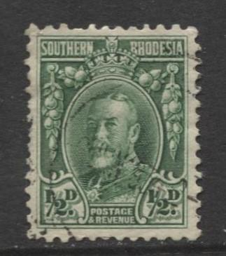 Southern Rhodesia- Scott 16 - KGV - Definitives  -1931 - FU - Single 1/2d Stamp