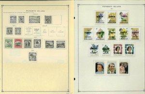 Penryhn Island 1920-1988 all Mint NH & a few LH on Scott International Pages