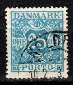 Denmark #J21  F-VF Used  CV $10.75  (V5404)