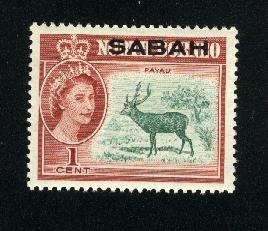 Malaysia-Sabah #1   Mint NH VF 1964 PD