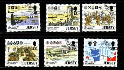 Jersey Sc 670-5 1994 D-Day Landings stamp set used
