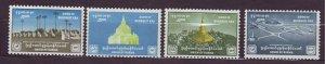 J23707 JLstamps 1956 burma mh set #159-62 views