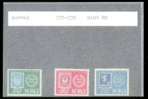 NORWAY Sc#337-339 MINT NEVER HINGED Complete Set