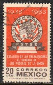 MEXICO 954 25th Ann of Civil Serv Statute & Syndicate. USED. (1204)