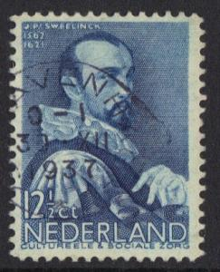 Netherlands  #B80  1935 used  cultural welfare 12 1/2 ct